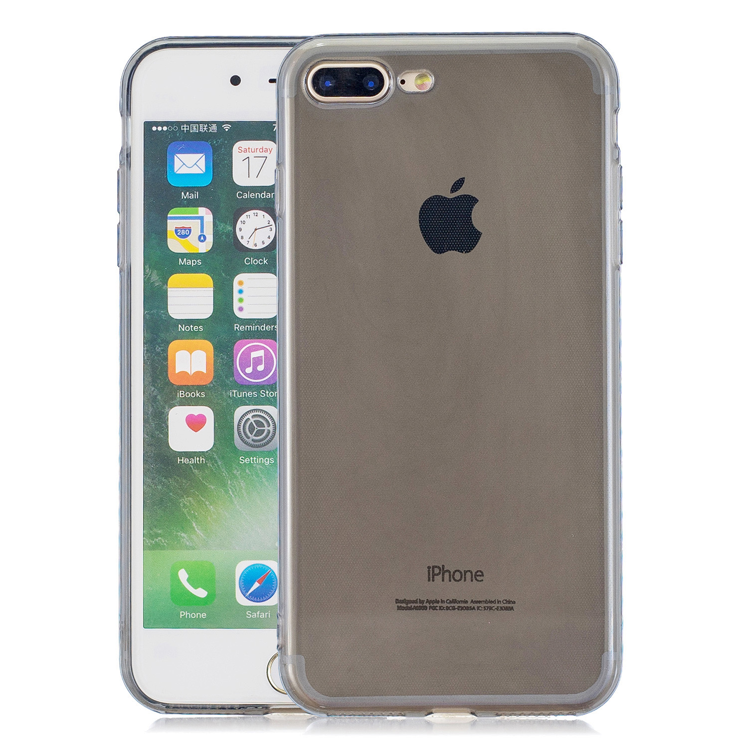 for iPhone 6/6S / 6 Plus/6S Plus / 7/8 / 7 Plus/8 Plus Clear Colorful TPU Back Cover Cellphone Case Shell Black