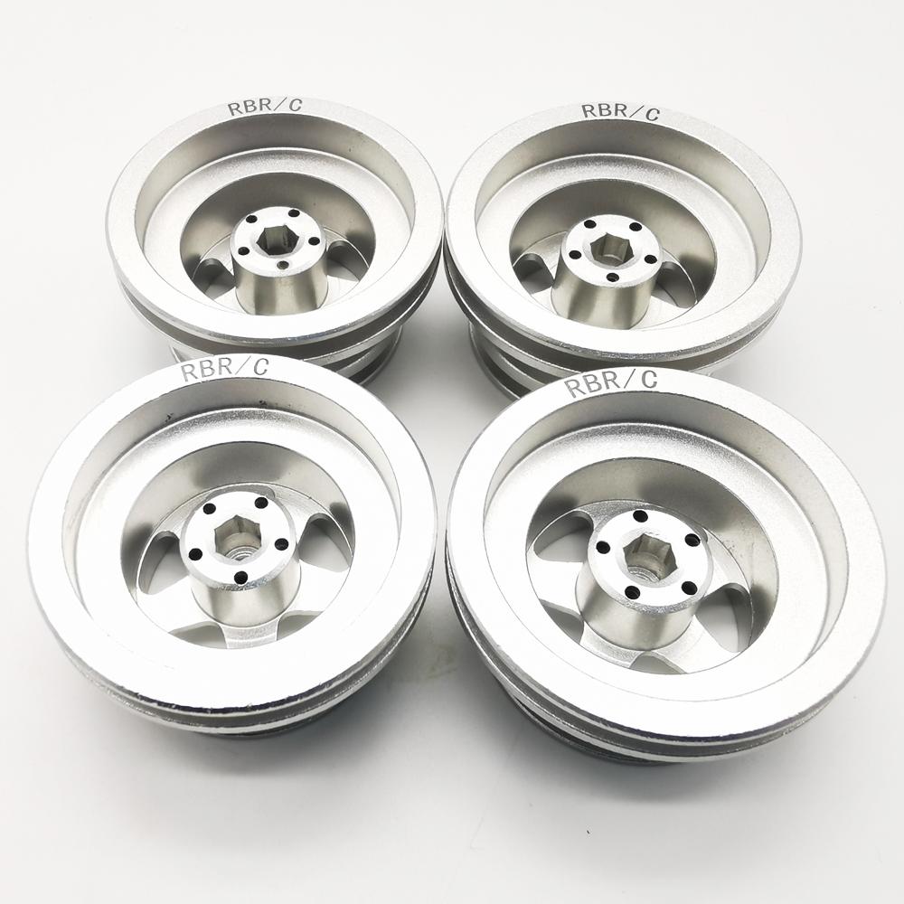 MN Model Metal Beadlock Wheels Rims for MN45 D90 91 96 99 99S 99A 1/12 Rc Car Model Spare Parts DIY  Silver_4PCS