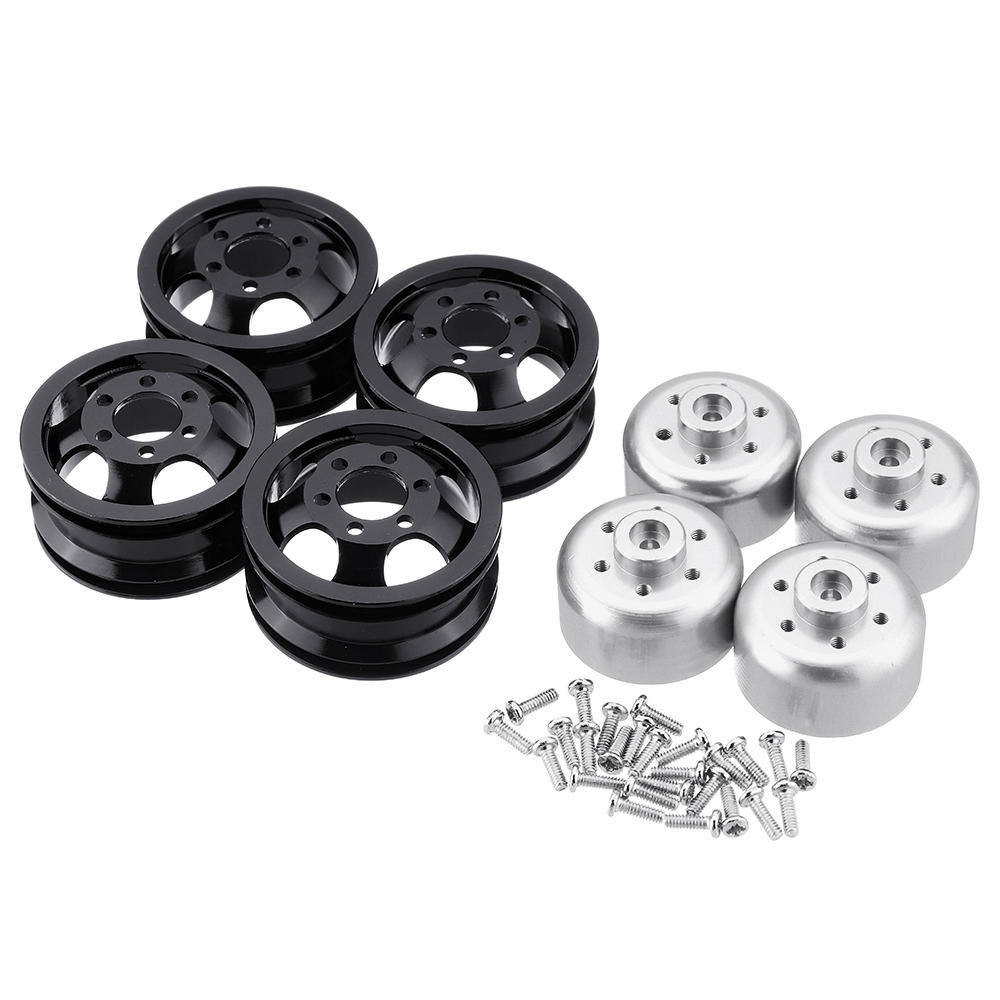 Metal Upgraded RC Car Wheel Hub for 1/16 WPL B14 B16 B24 C14 C24 B16 B36 JJRC MN RC Model Vehicle black