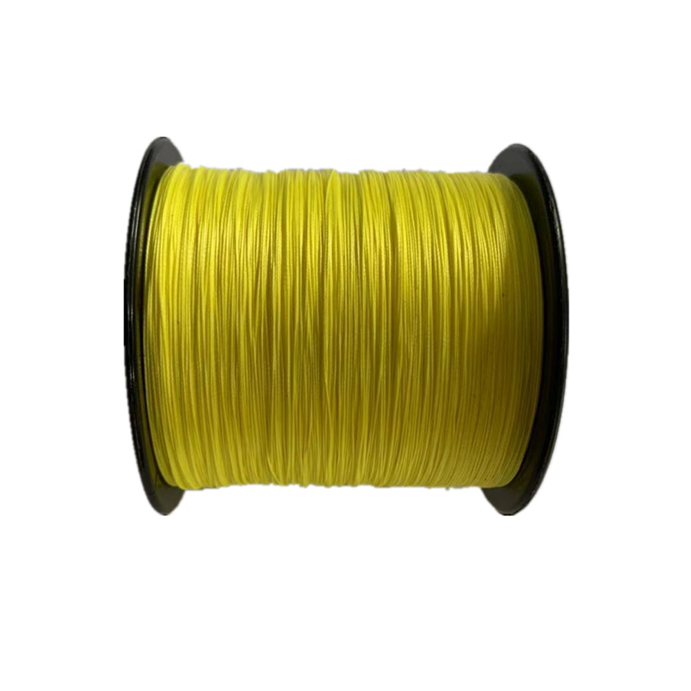 500 M Fishing  Line 8 Strands PE Braided  Strong Pull Main Line Fishing Line Fishing Tackle yellow_500m_30LB/0.28mm
