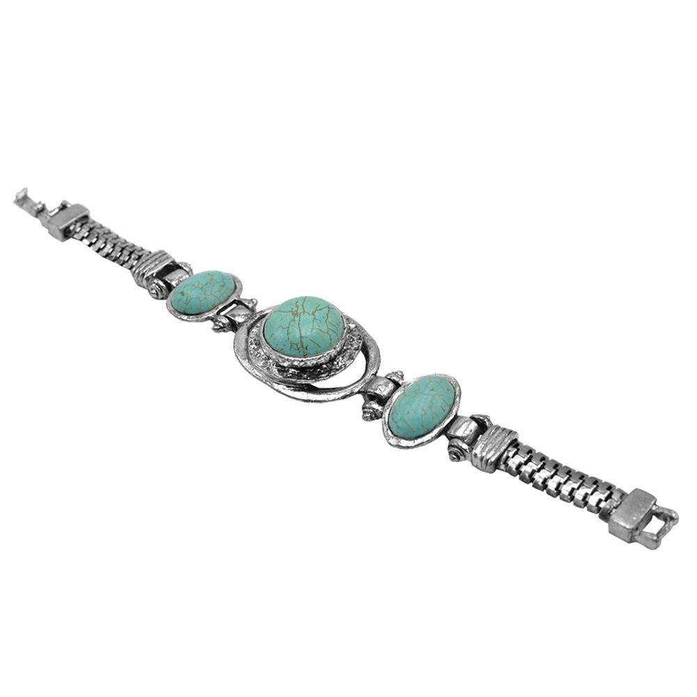 Bohemian round turquoise bracelet
