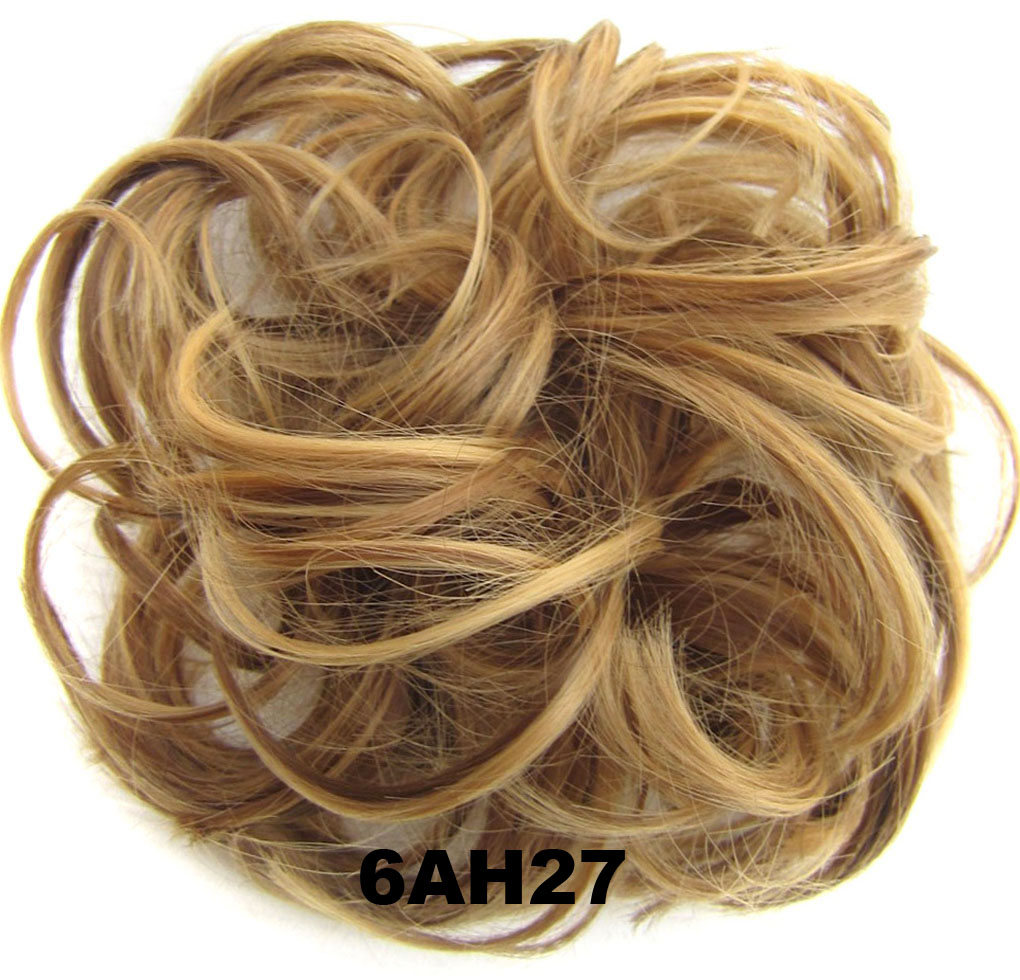 Fashion Synthetic Women Hair Pony Tail Hair Extension Bun Hairpiece Scrunchie Elastic Wedding Wave Curly  6AH27