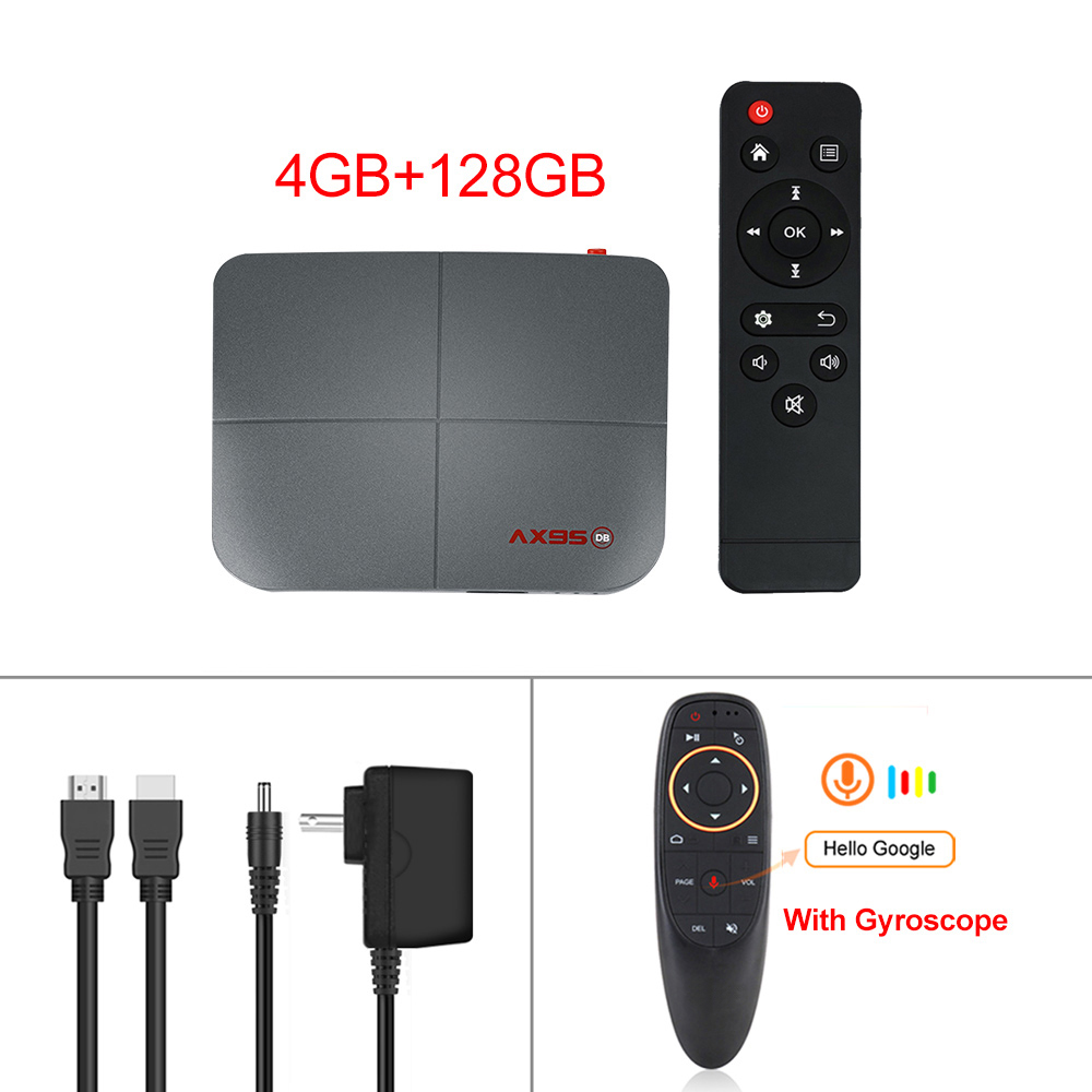 For Android 9.0 Tv  Box 10.0 4+218g Media Player Smart Tv Box Tv  Receiver 4+128G_British plug+G10S remote control