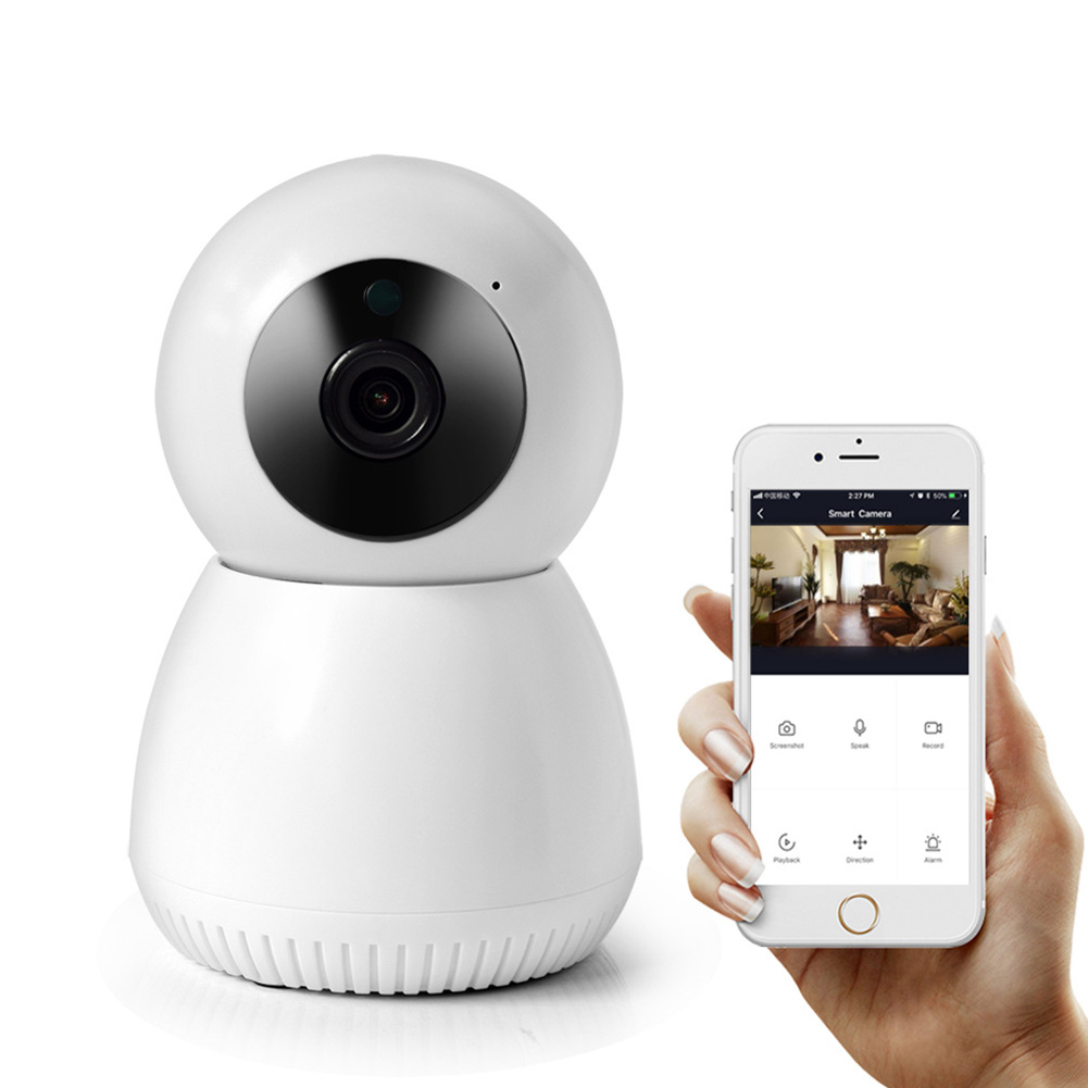 Intelligent ABS Wireless WIFI Video Camera 1080P Home Security Remote Control US Plug