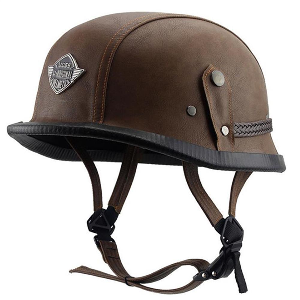 Helmet Personal Retro Cruiser Motorcycle Helmet Brown L