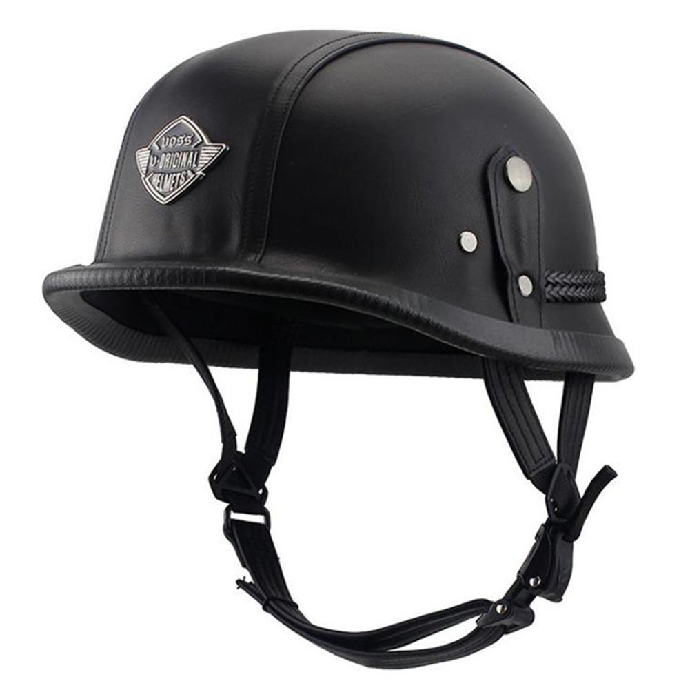 Helmet Personal Retro Cruiser Motorcycle Helmet Black L