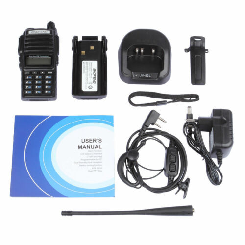 BaoFeng UV-82C Dual-Band 136-174/400-520 MHz FM Ham Two-Way Radio Transceiver HT with Battery Earpiece Antenna Charger  US plug