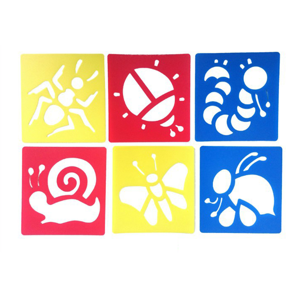 6Pcs Drawing Board Copy Board Diy Christmas Color Painting Toy for Kids H-16