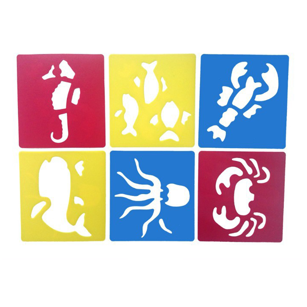 6Pcs Drawing Board Copy Board Diy Christmas Color Painting Toy for Kids H-14