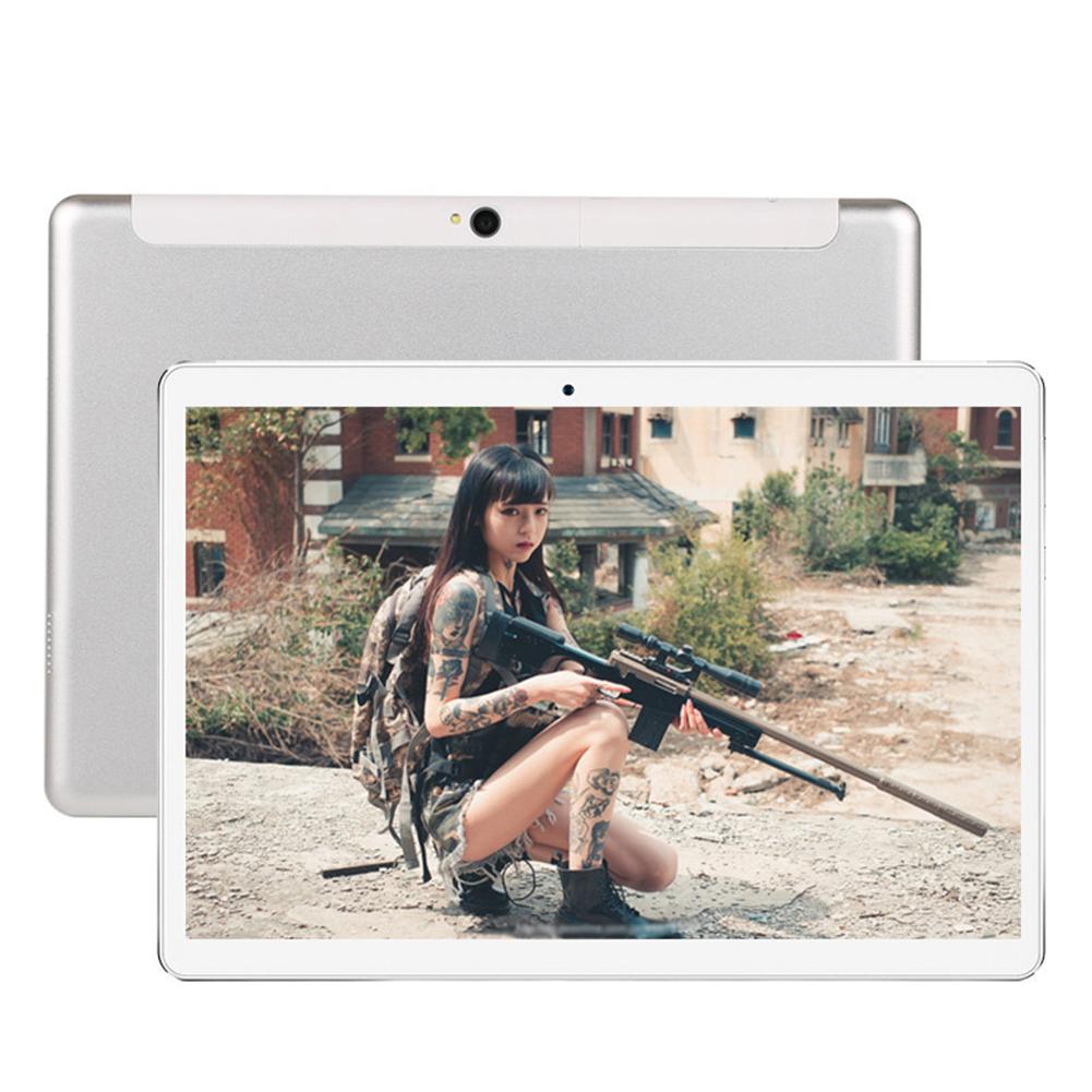 10 Inch Tablet Computer Ten Core High Definition GPS Navigation 4G Dual Card Full Netcom WIFI Silver eight core 4G full Netcom_EU Plug
