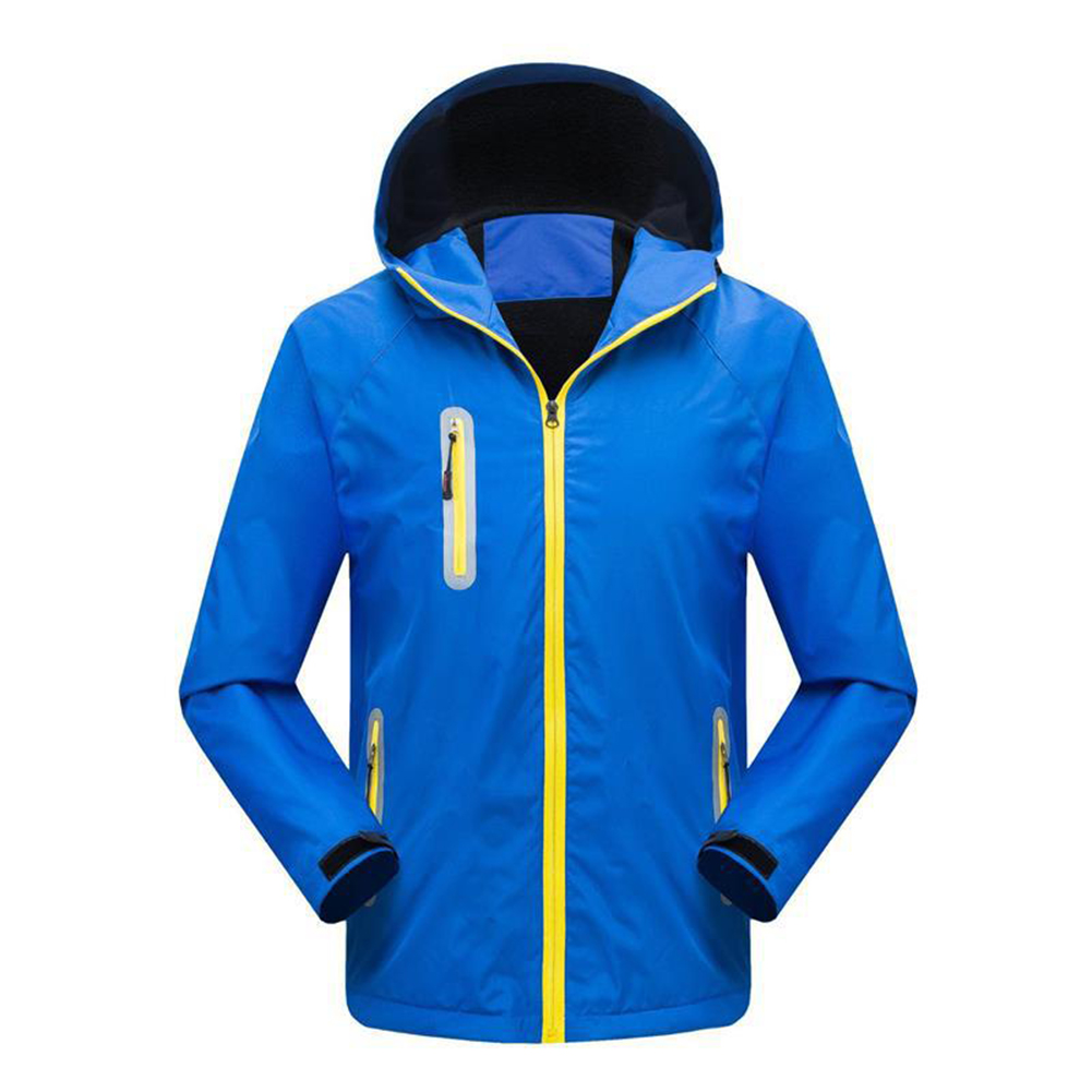 Men's and Women's Jackets Autumn and Winter Outdoor Reflective Waterproof and Breathable  Jackets blue_XXXL