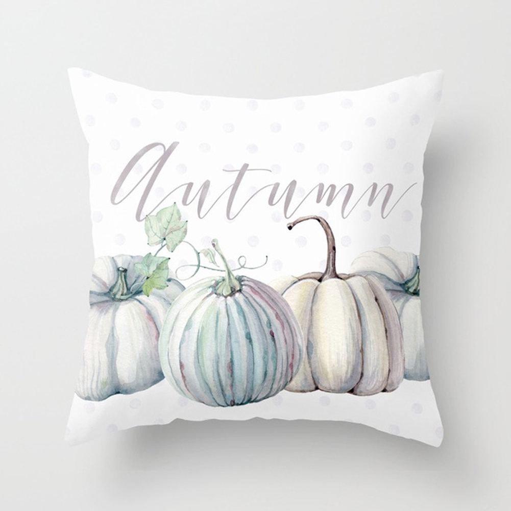 Thanksgiving Day Pumpkin Printed Throw Pillow Cover Pillowcases Decorative Sofa Cushion Cover DRD85-18_45*45cm