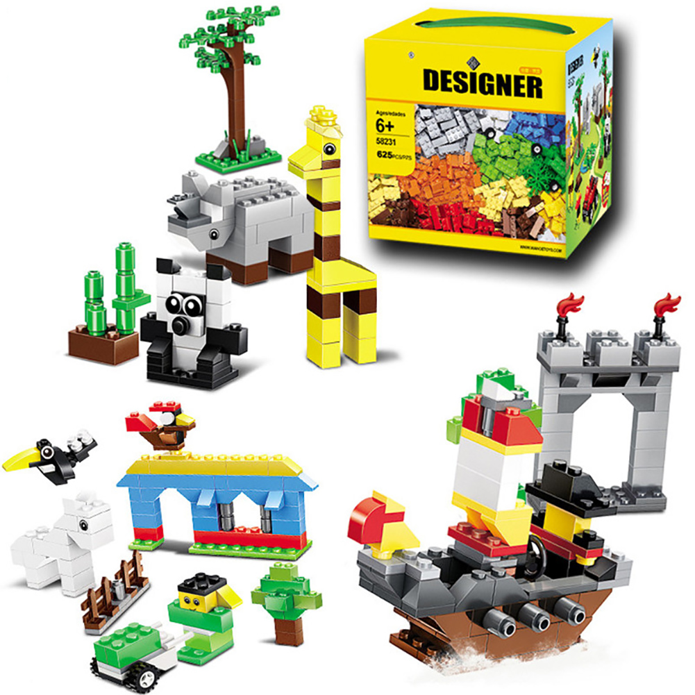 625Pcs DIY City Building Blocks Sets Model Small Particles Game Toys for Children Gift