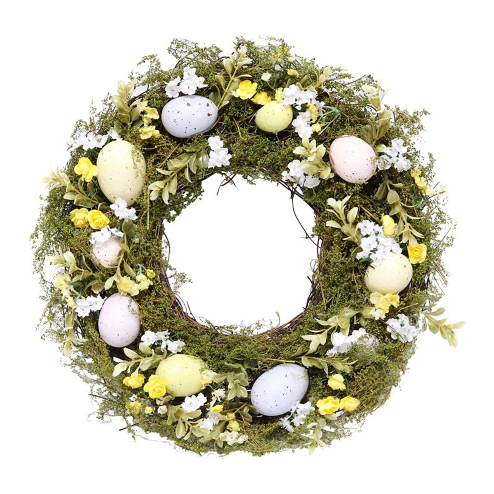 Easter Egg Wreath Simulation Garland Easter Decoration Door Pendant Easter egg wreath