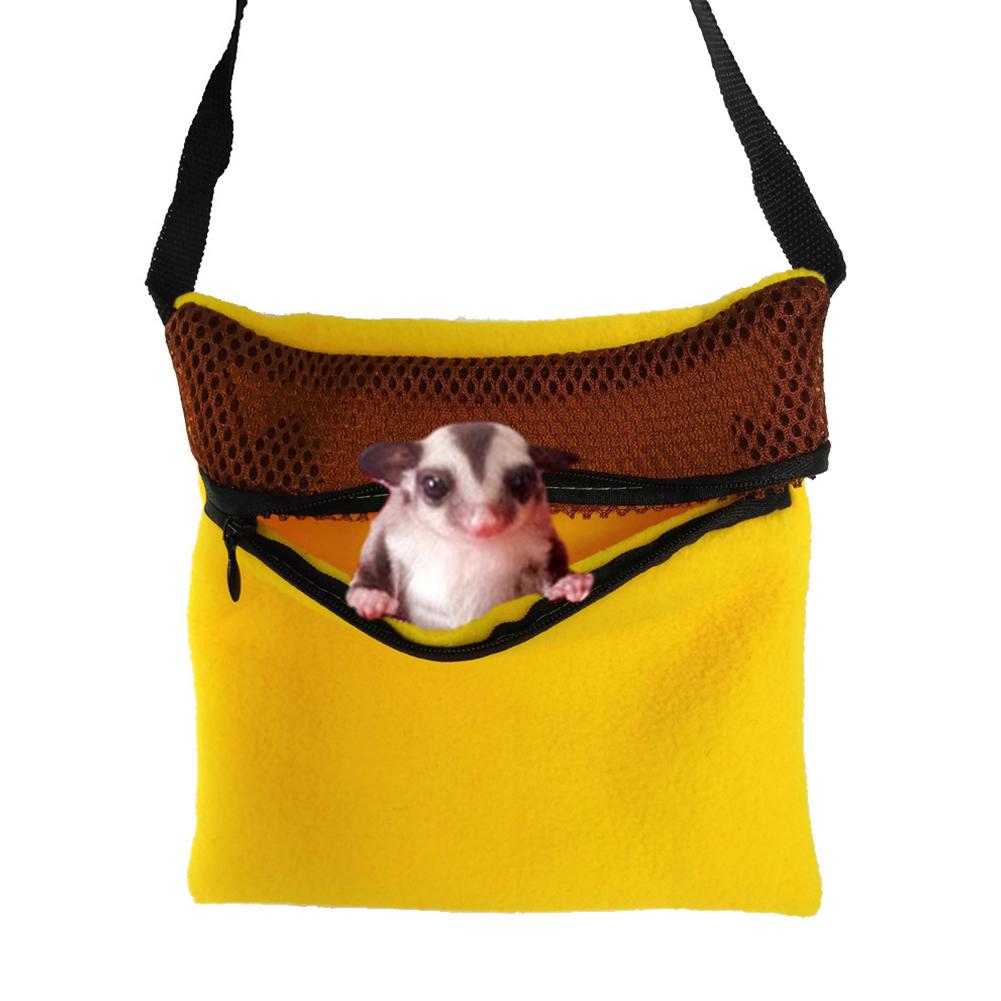 Portable Warm Sleeping Bag for Outdoor Pet Birds Parrots Hamsters Chinchillas Rabbits Squirrels yellow