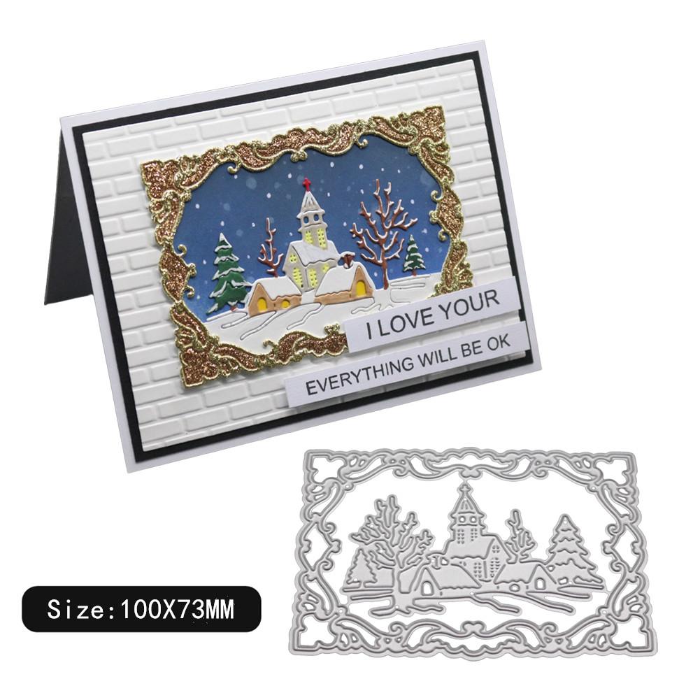 Carbon Steel Cutting Dies for DIY Christmas Series Scrapbooking Album Paper Cards Die Cuts 1805076