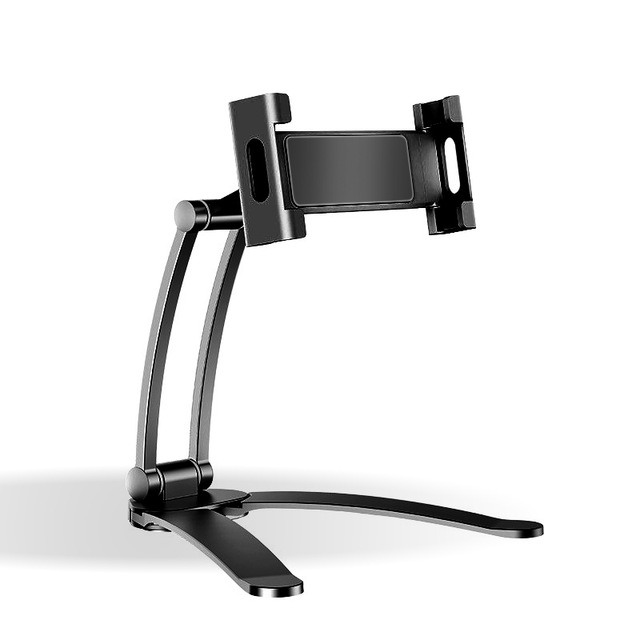 Tablet Holder Folding Desktop Wall-Mounted Lazy Bracket Box For Samsung Xiaomi iPad black