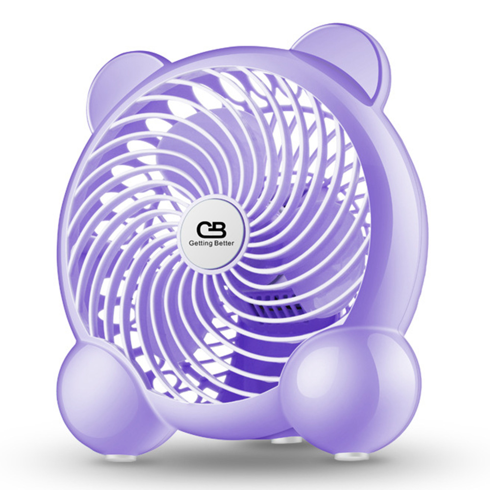 7Inches USB Charging 2 Modes Speed Adjustable Tabletop Mini Mute Fan for Student Office purple_7 inches