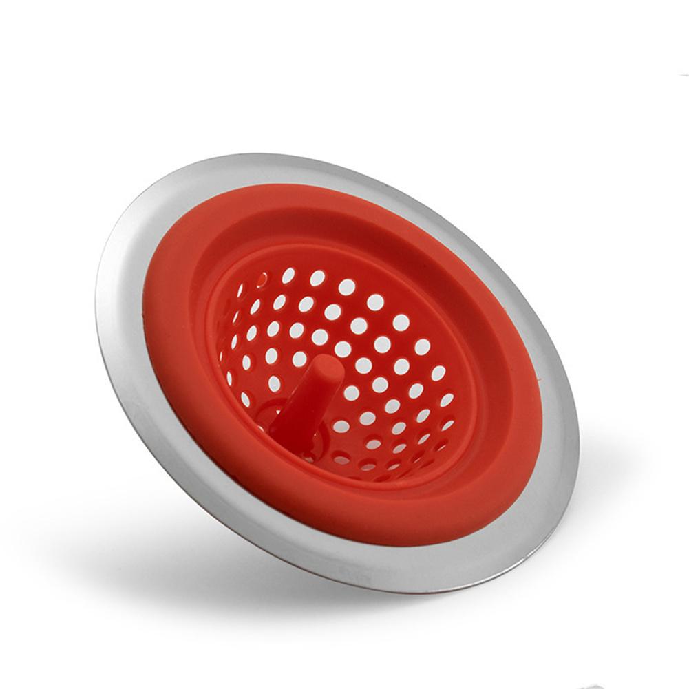 Kitchen  Sink  Filter Tank Kitchen Mesh Shower Drain Kitchen Bathroom Accessories red