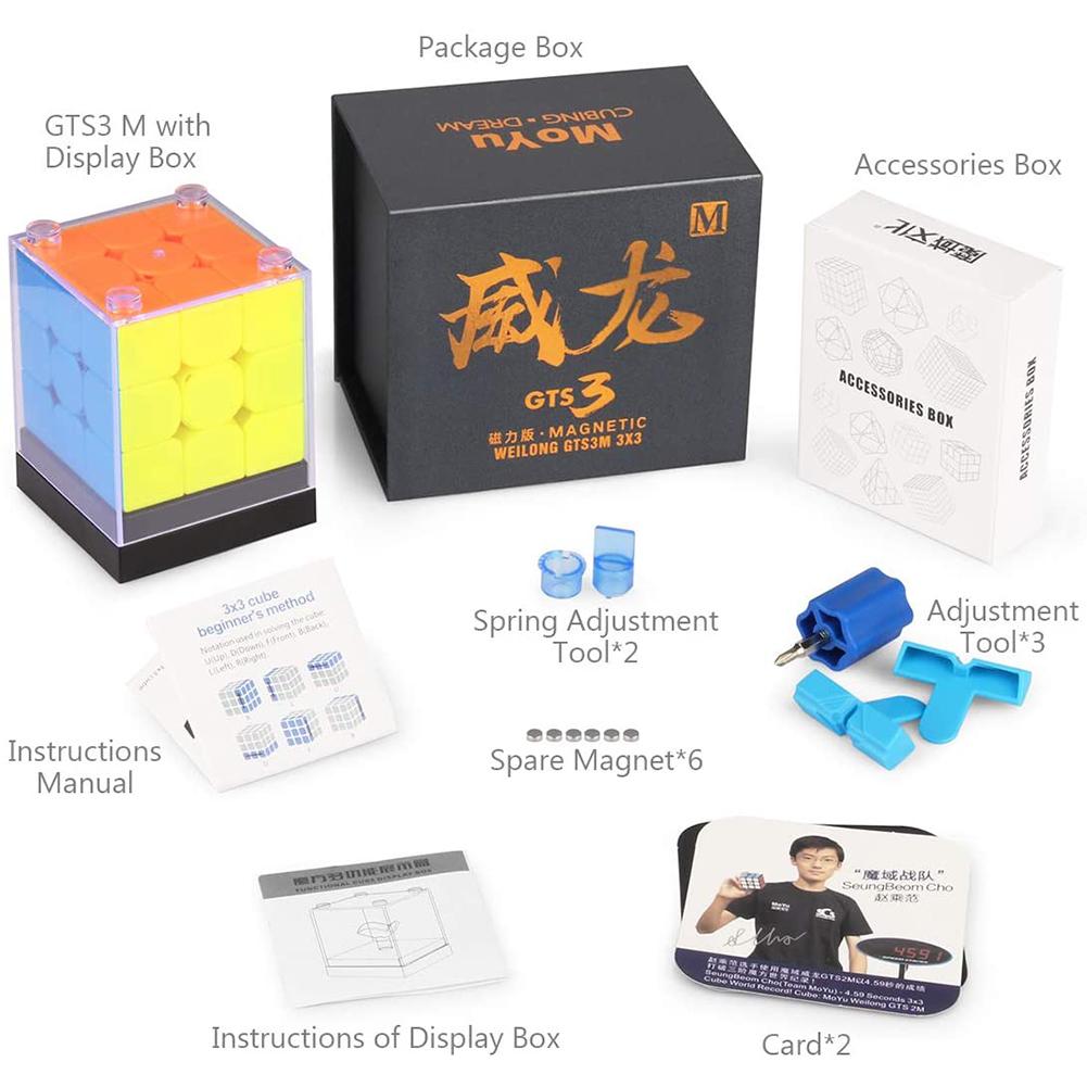 Moyu Weilong GTS3 M 3x3 Speed Cube Stickerless Magnetic Moyu Weilong GTS 3M 3x3x3 Cube Puzzle GTS V3 Strong magnetic version