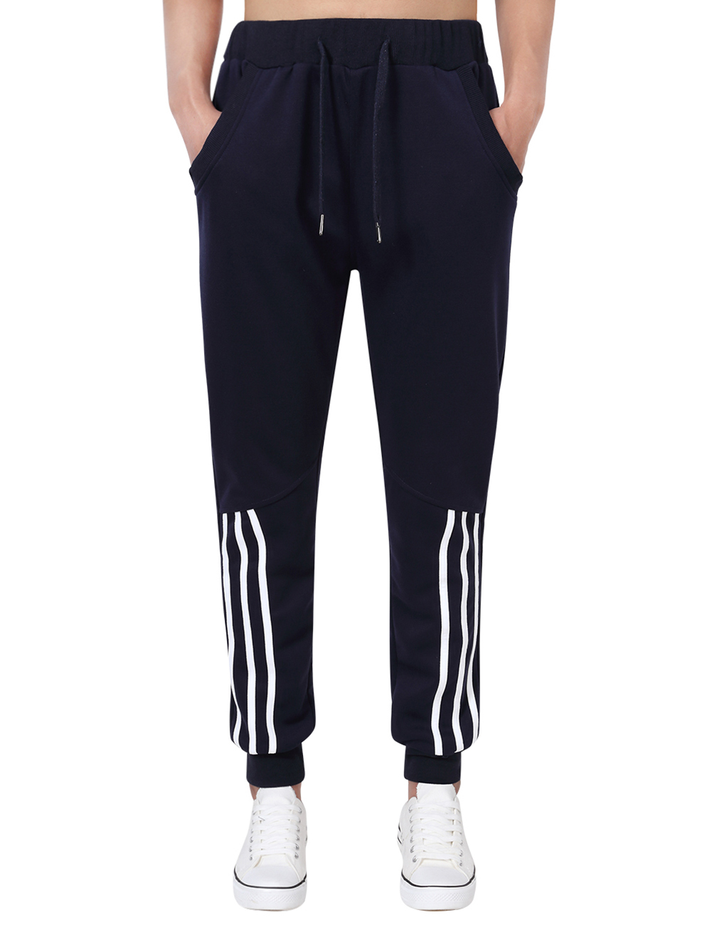 [US Direct] Young Horse Running Pants for Men Casual Long Pants With Elastic Waistband