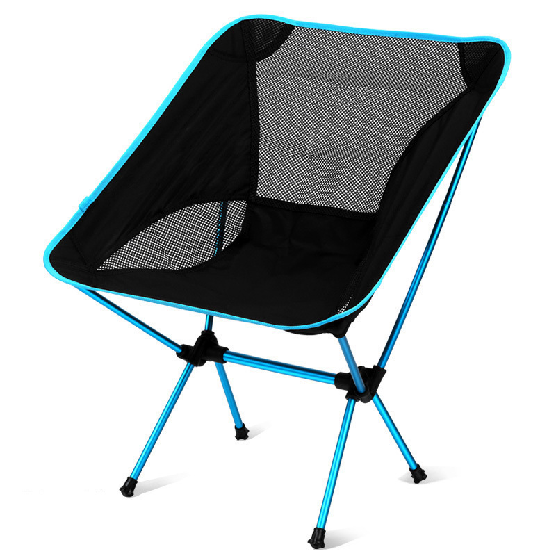 Outdoor Ultralight Back-rest Chairs Portable Foldable Chairs with Carry Bag for Camping Fishing