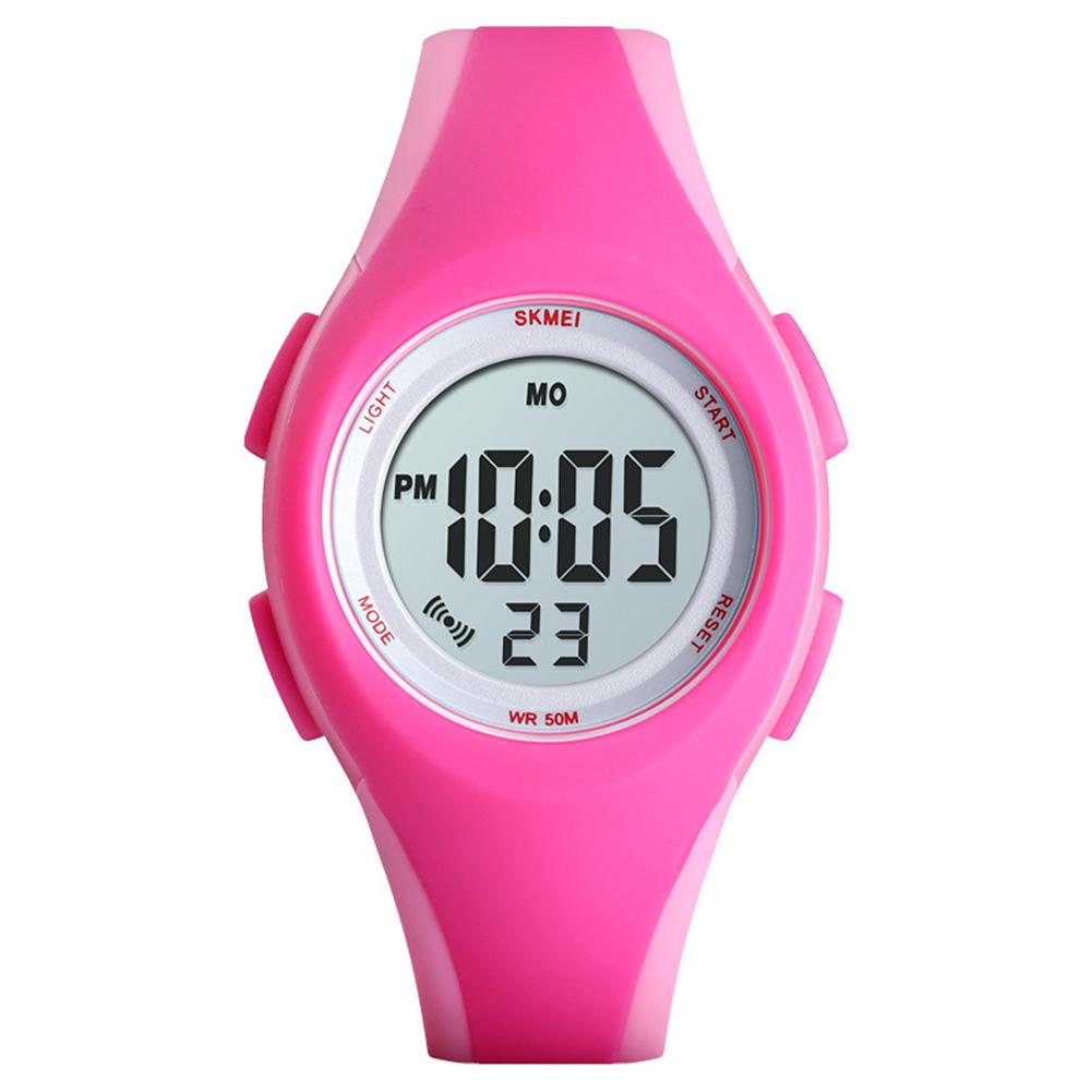 Boys Girls Watch Fashion Luminous Waterproof Electronic Children's Watch Pink