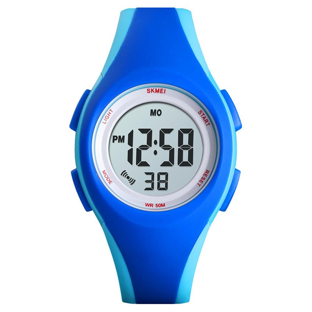 Boys Girls Watch Fashion Luminous Waterproof Electronic Children's Watch Blue