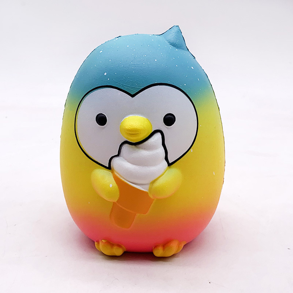 Ice Cream Penguin Pu Simulation Decompression Toy Super Soft Very Slow Rising Squishies  Multicolor_15.5 * 12.5 * 10cm