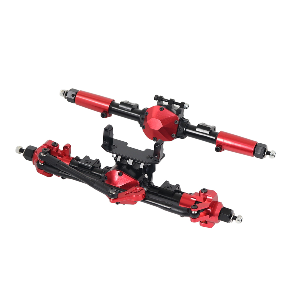 RC Car CNC Metal Front / Rear Axle with Protector for 1:10 RC Crawler Car Axial SCX10 II 90046 90047 front and rear axles