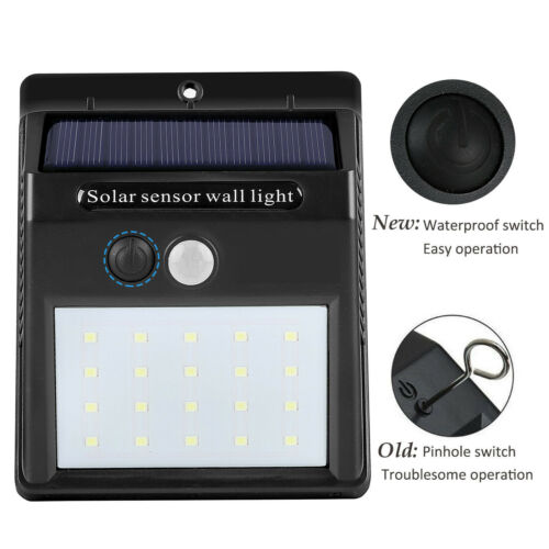 20LEDs Waterproof Solar Charging Human Body Induction Wall Lamp for Courtyard Garden People come to light, people go to turn off