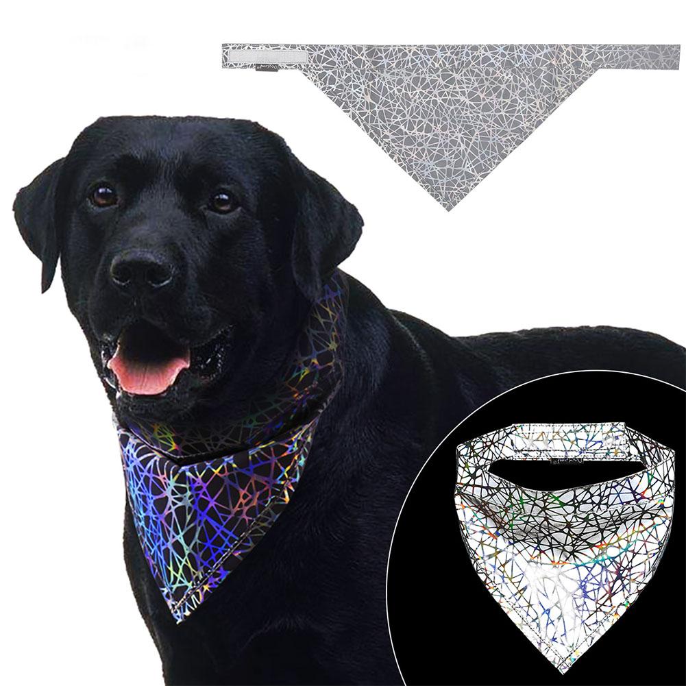Triangular Scarf Illusion Reflective Technology Sense Scarf Bib Saliva Towel gray_L