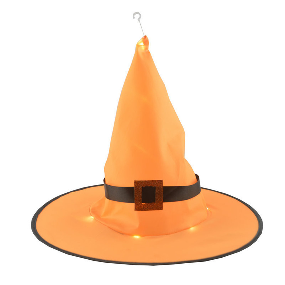 1/8pcs Halloween Hanging Witch Hat Shape Decoration for Outdoor Yard Tree  No light orange 1