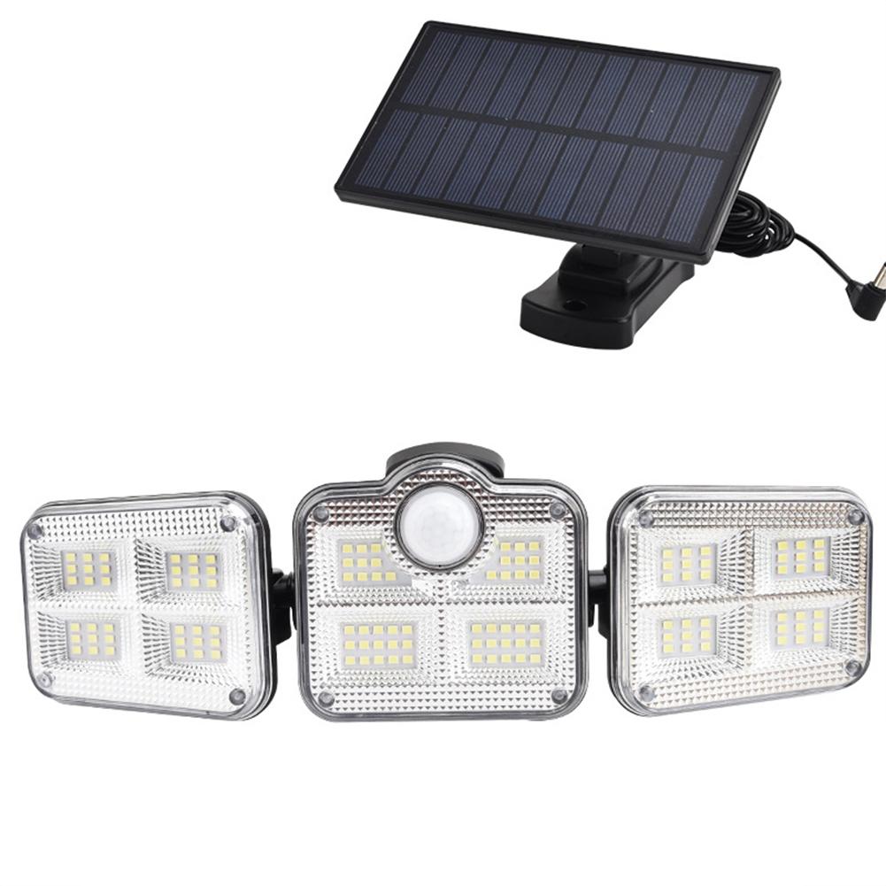 3-head Split Led Solar Wall  Light Solar Garden Light Outdoor Human Body Sensor Light