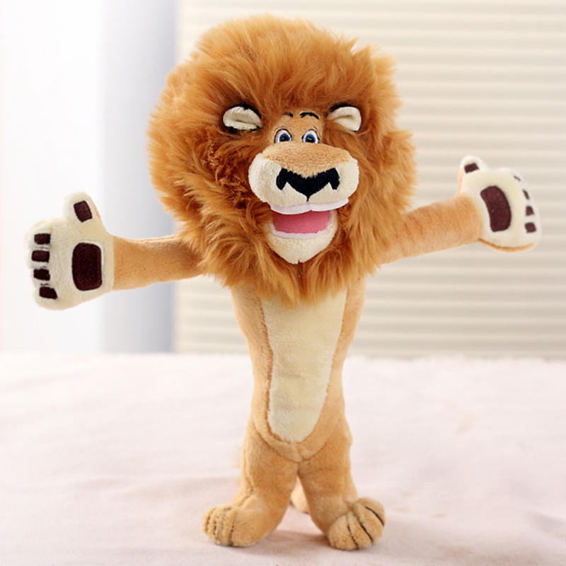 Cute Cartoon Madagascar Lion Plush Toy Creative Plush Toy Doll Brown