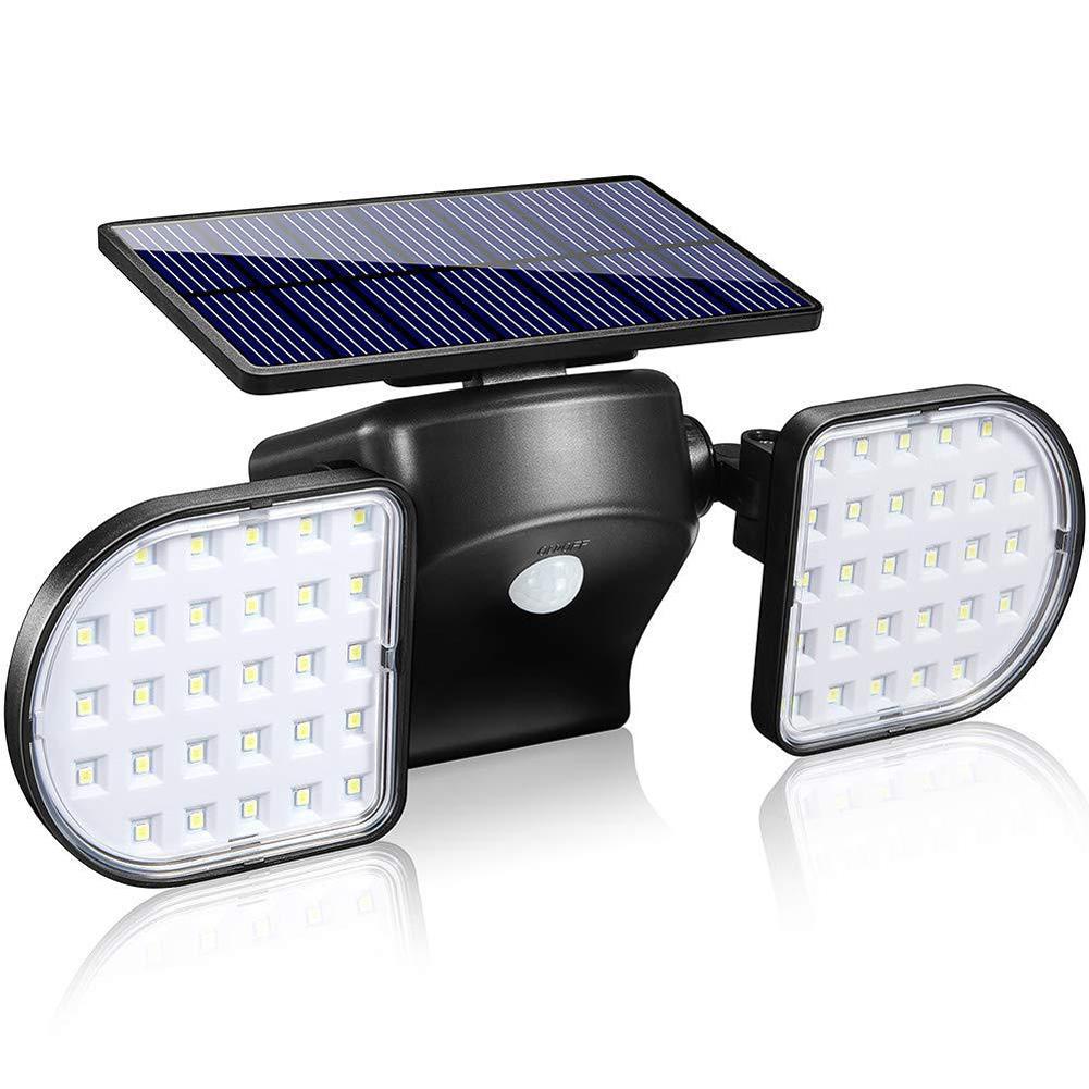 56LEDs Solar Garden Light Outdoor Waterproof Human Body Sensing Landscape Street Light Wall Lamp white light