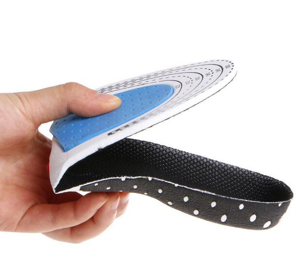 1 Pair Unisex Anti-slip Massaging Insoles Pads Sports Shoes Insoles Shock-absorbing Running Insoles  Mesh black_S (35-40) can be cut