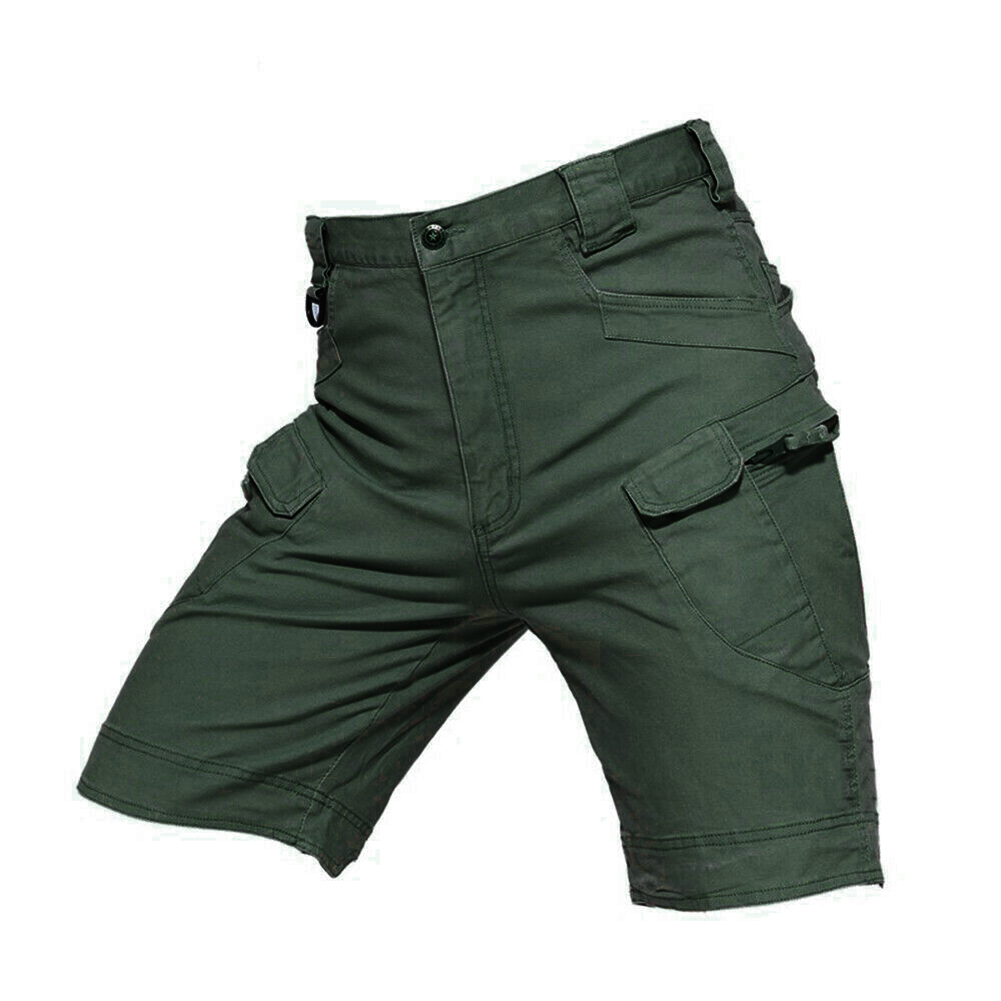 Men Summer Sports Pants Wear-resistant Overall Fifth Pants  green_L