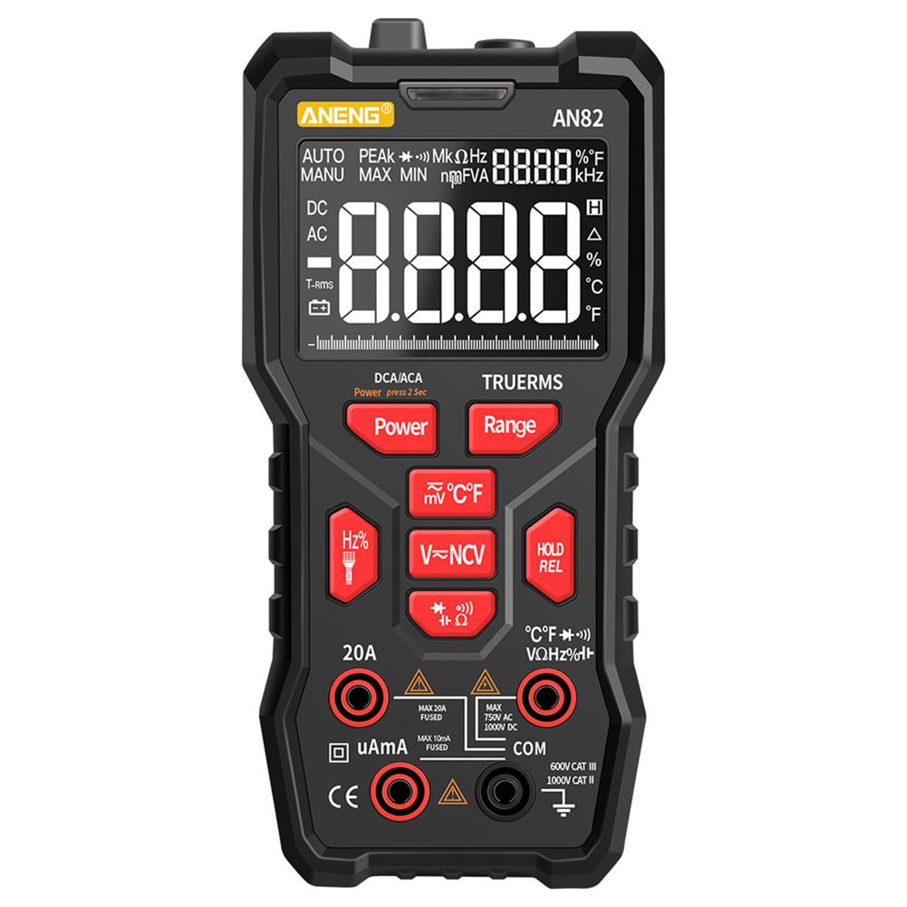 Digital Multimeter Professional 9999 Tester Thermocouple Kit Va Display Screen Low configuration black