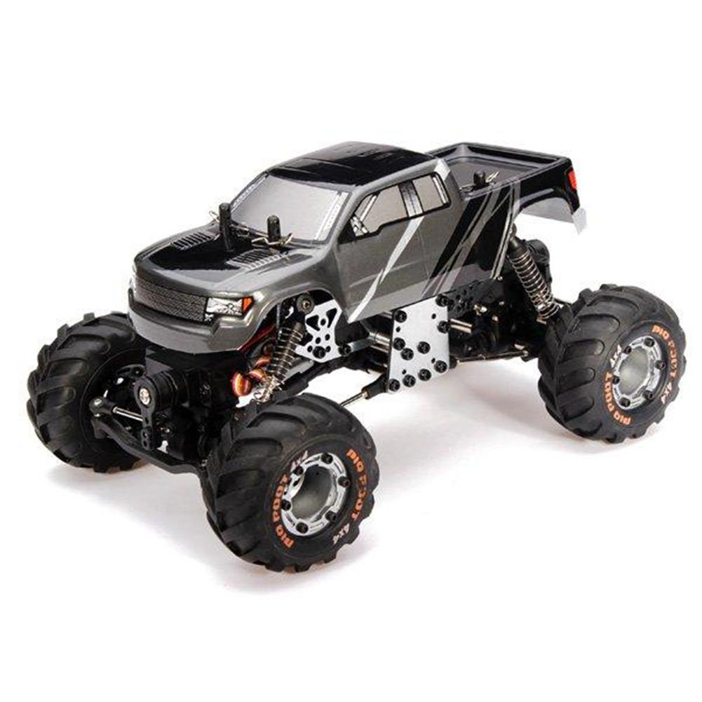HBX 2098B 1/24 4WD Mini RC Car Crawler Metal Chassis For Kids Toy Grownups gray
