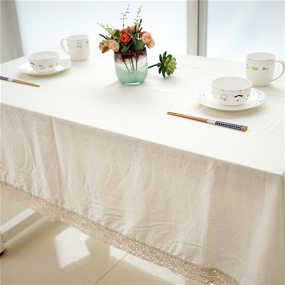 Cotton Linen Tablecloth Protective Table Cover For Home Living Room Kitchen 140*180cm