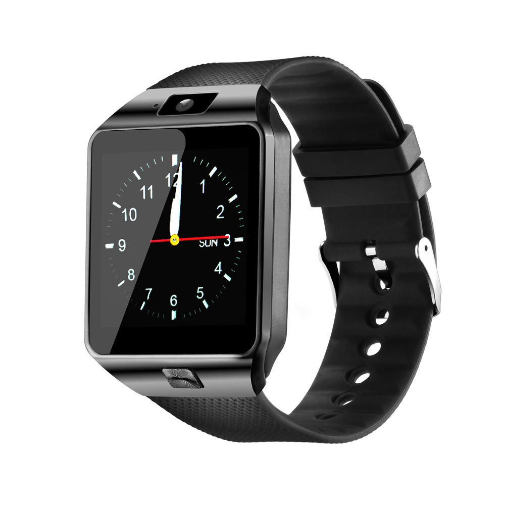 Fashion Bluetooth Smart Watch with SIM and Memory Card Support for Android & iOS Devices  Black