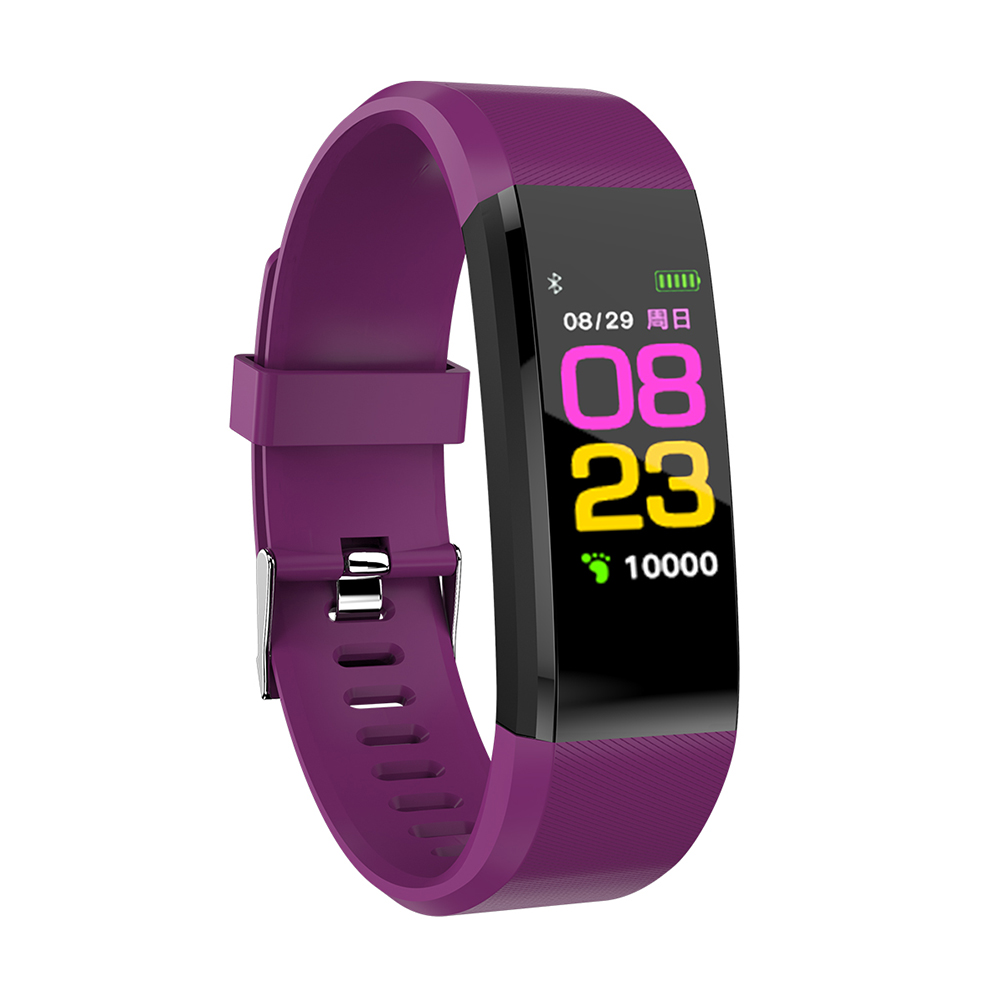 BT Smart Watch Wristband Bracelet Pedometer Sport Fitness Tracker purple