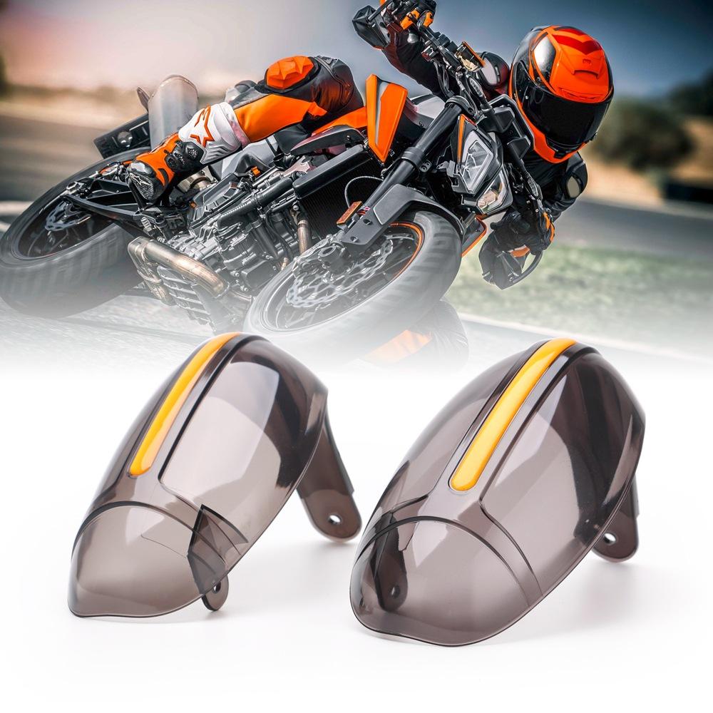 2pcs Motorcycle Hand Guards Dirt Bike Handguard Scooter Windscreen Driving Falling Hands Protection 22mm Handlebar Gray