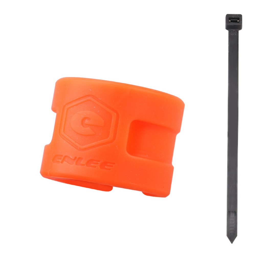 Road Bike MTB Rear Front Fork Anti-collision Rubber Protection Ring Guard Chain Stickers Mountain Bike Equipment Orange