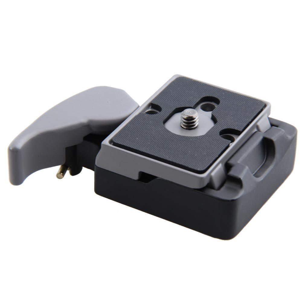 Camera 323 Clamp Quick Release Adapter 200PL-14 QR for Manfrotto Tripod black