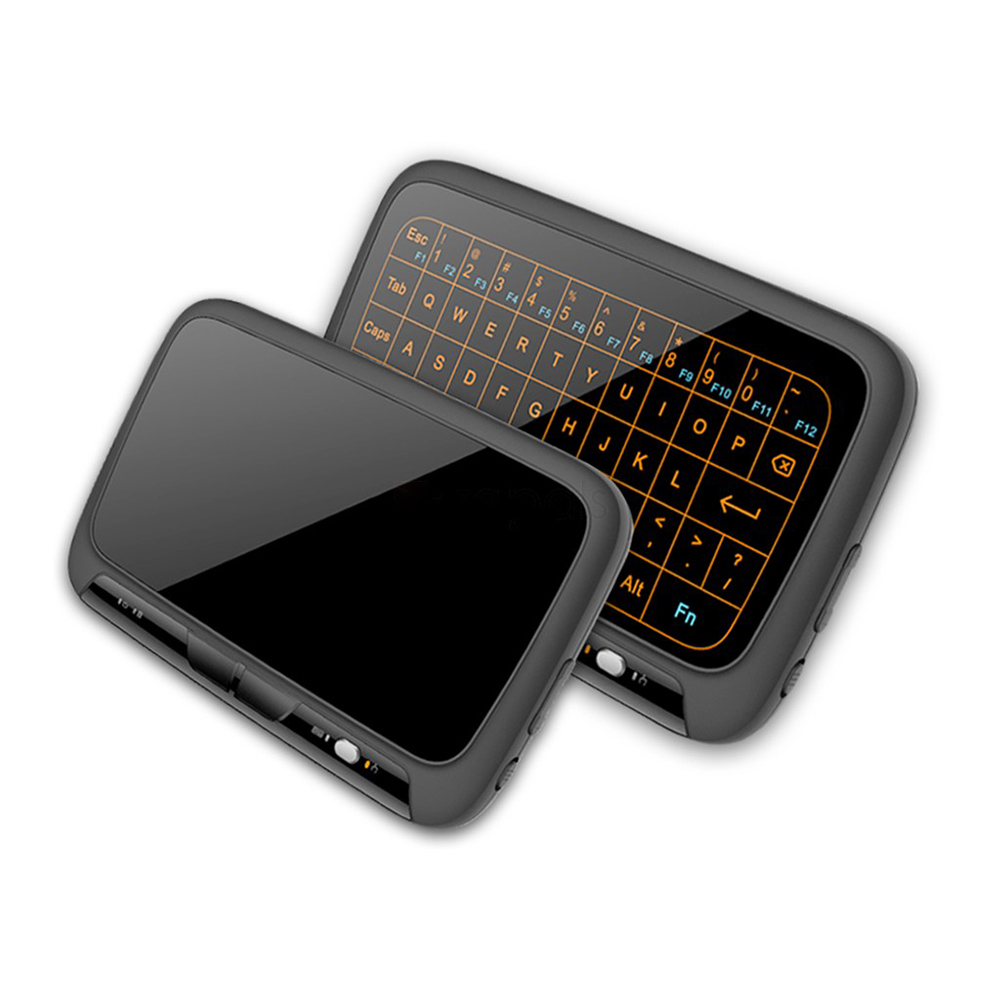 2.4Ghz Mini Wireless Keyboard Backlit Full Screen Mouse Touchpad Combo for PC,Android Tv Box,PS3 black