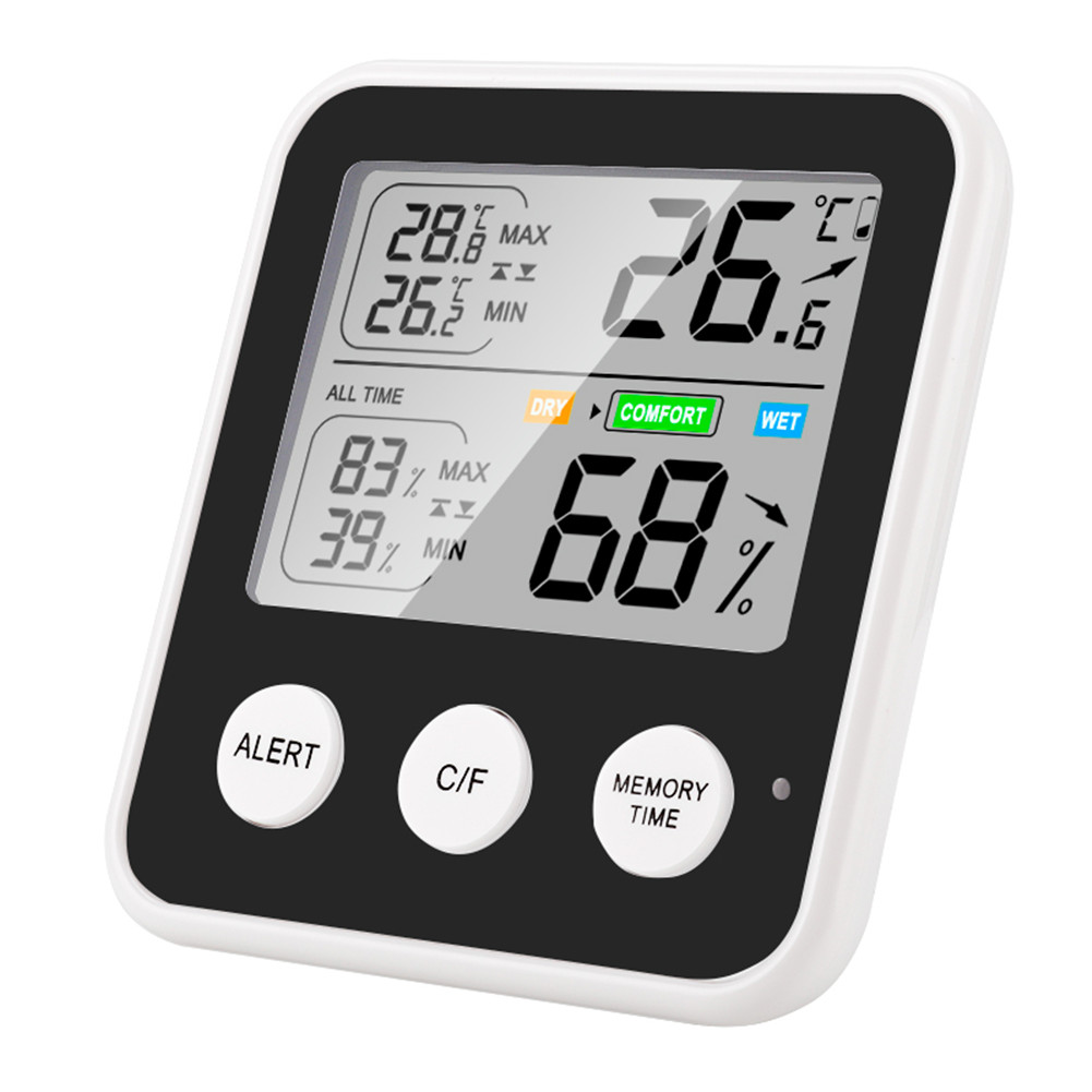 High-precision Indoor Temperature  Tester With Digital Display Humidity Meter Multi-function Thermometer