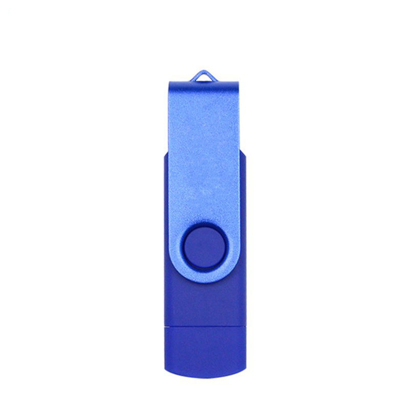 Double Swivel Cap High Speed Type C USB3.1 U Disk L16 USB Flash Drive blue_128G