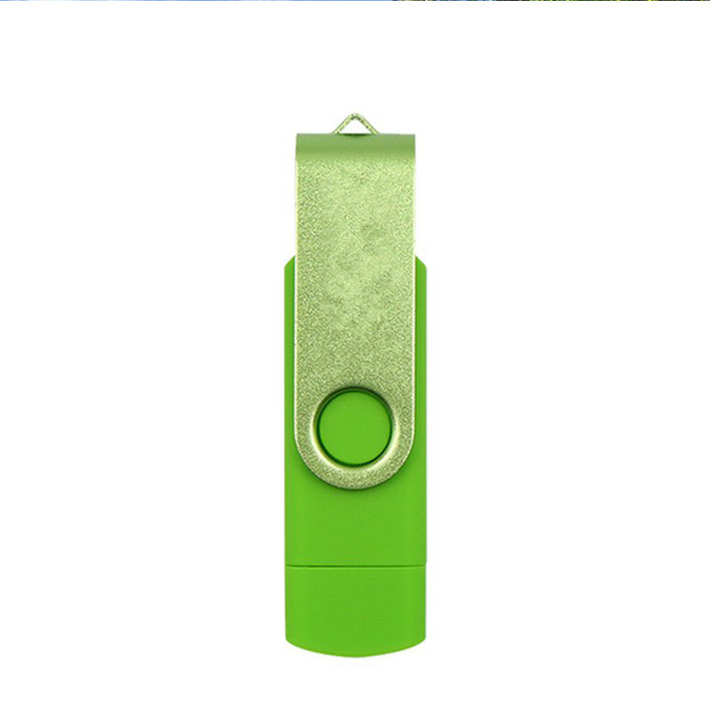 Double Swivel Cap High Speed Type C USB3.1 U Disk L16 USB Flash Drive green_128G